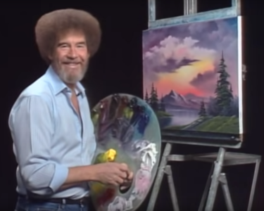 Bob Ross Painting at The Workspace
