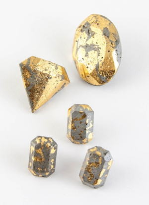 Concrete & Gold Jewelry Class with Terrie Hoefer at The Workspace