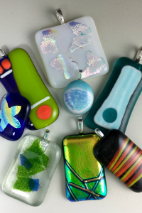 Fused Glass Pendants Walk-in Craft