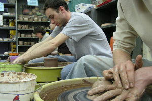 Throw Pottery at The Workspace Open Studios