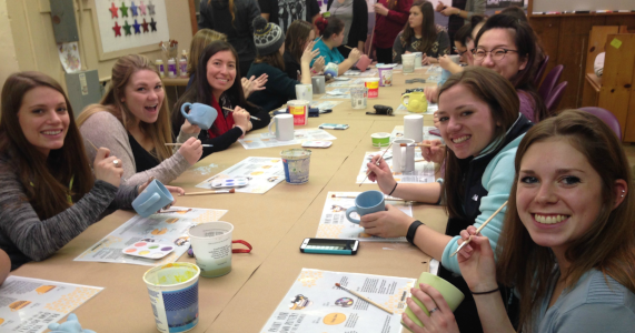 Paint Your Own Pottery at The Workspace