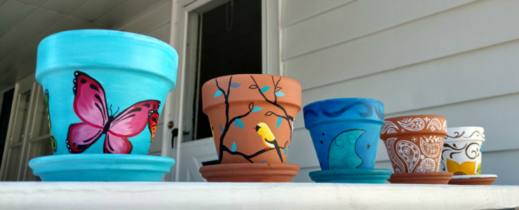 Painted Flower Pots Walk-In Craft at The Workspace