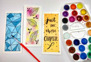 Watercolor Bookmarks at The Workspace