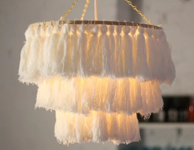 Tassel Chandelier Class at The Workspace